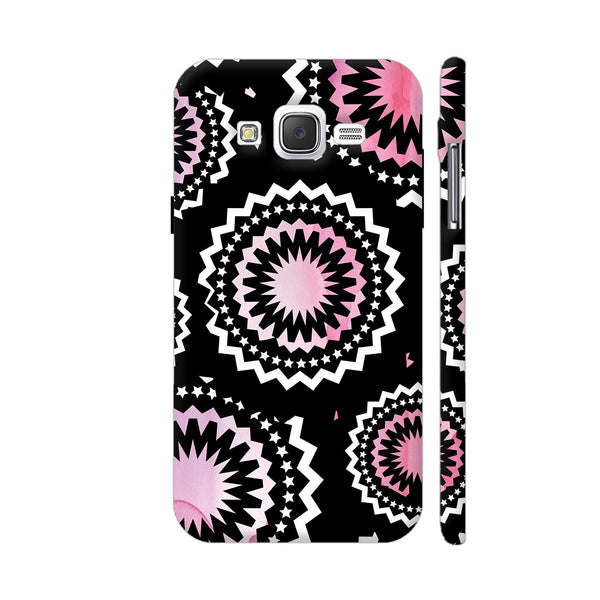 Abstract Circles Or Mechanical Gears In Pink Samsung Galaxy J2 (Old) Cover | Artist: Urvashi