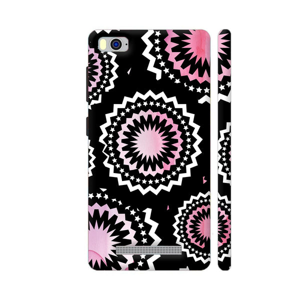 Abstract Circles Or Mechanical Gears In Pink Xiaomi Mi 4i Cover | Artist: Urvashi
