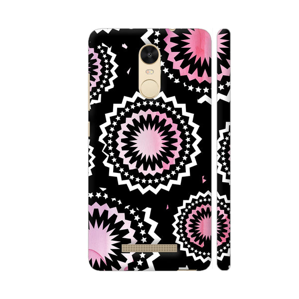 Abstract Circles Or Mechanical Gears In Pink Redmi Note 3 Cover | Artist: Urvashi