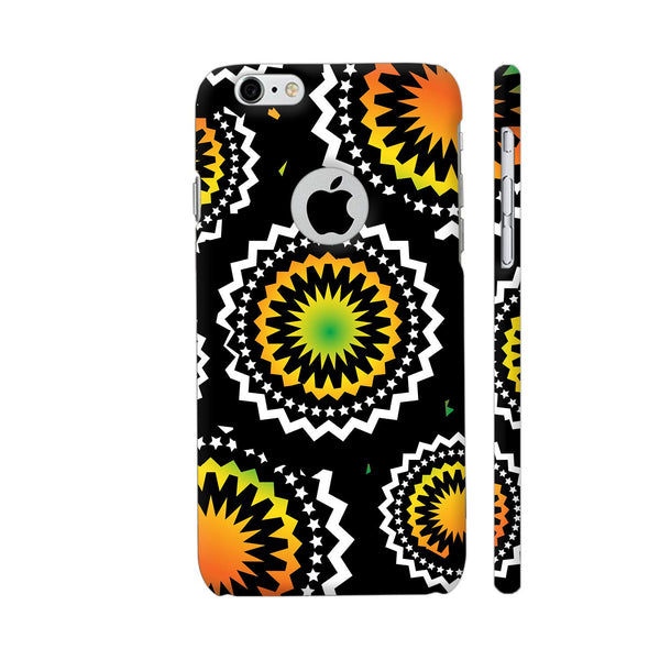 Abstract Circles Or Mechanical Gears In Yellow Orange iPhone 6 / 6s Logo Cut Cover | Artist: Urvashi