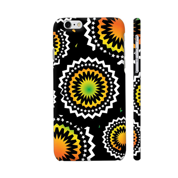 Abstract Circles Or Mechanical Gears In Yellow Orange iPhone 6 / 6s Cover | Artist: Urvashi
