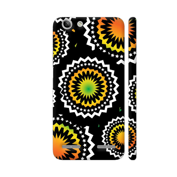 Abstract Circles Or Mechanical Gears In Yellow Orange Lenovo Vibe K5 / K5 Plus Cover | Artist: Urvashi
