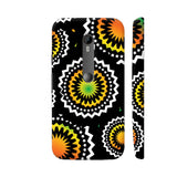 Abstract Circles Or Mechanical Gears In Yellow Orange Moto G Turbo Cover | Artist: Urvashi