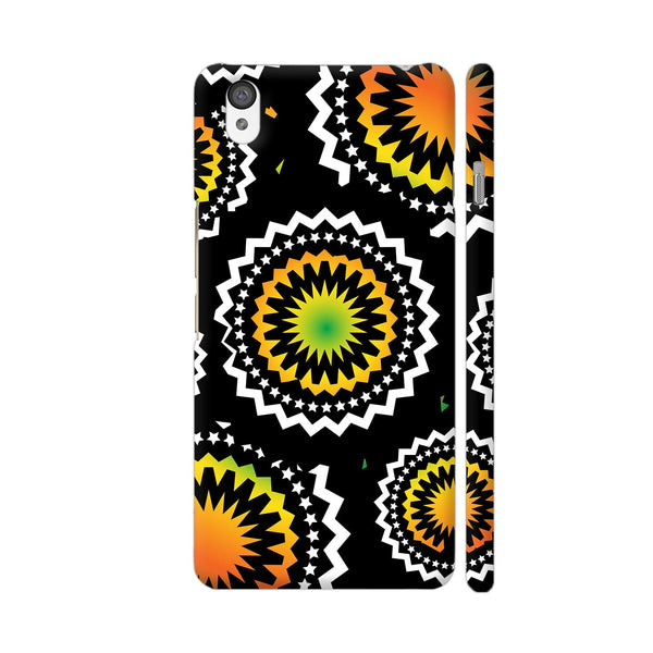 Abstract Circles Or Mechanical Gears In Yellow Orange OnePlus X Cover | Artist: Urvashi