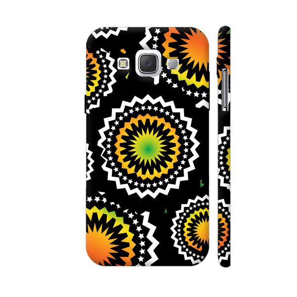 Abstract Circles Or Mechanical Gears In Yellow Orange Samsung Galaxy E5 Case