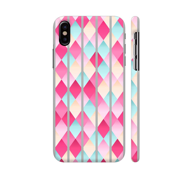 Abstract Diamond Geometric Pattern With Grey Lines iPhone X Cover | Artist: Mita