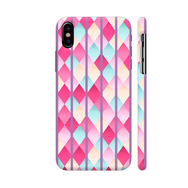 Abstract Diamond Geometric Pattern With Purple Lines iPhone X Cover | Artist: Mita