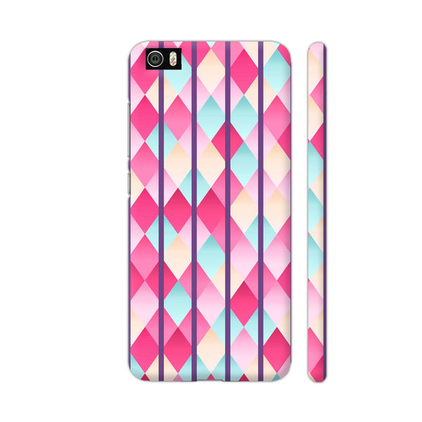 Abstract Diamond Geometric Pattern With Violet Lines Xiaomi Mi 5 Cover | Artist: Mita