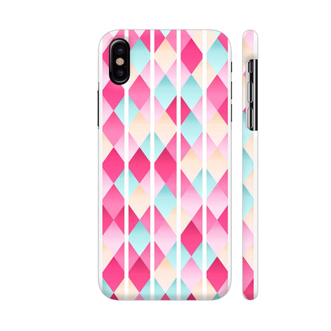 Abstract Diamond Geometric Pattern With White Lines iPhone X Cover | Artist: Mita
