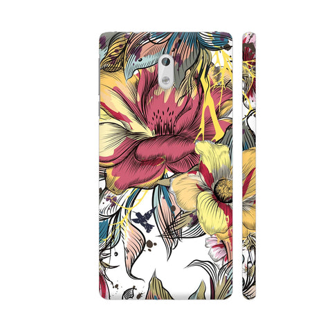 Abstract Flowers Nokia 3 Cover | Artist: Astha