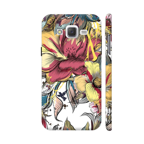 Abstract Flowers Samsung Galaxy J2 (Old) Cover | Artist: Astha