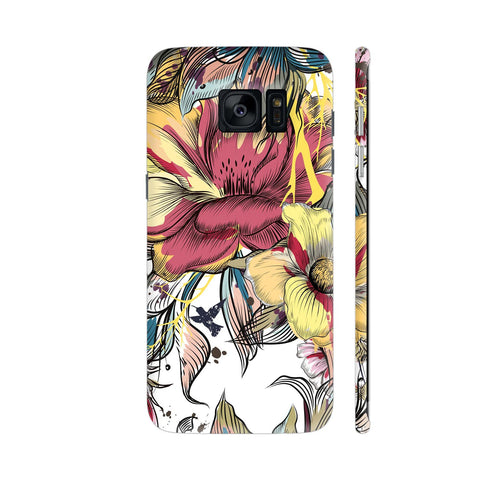 Abstract Flowers Samsung Galaxy S7 Edge Cover | Artist: Astha