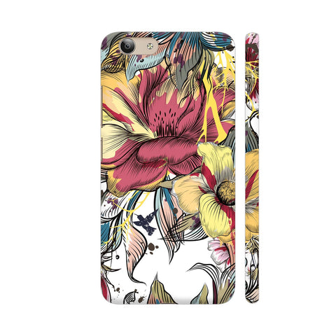 Abstract Flowers Vivo Y53 Cover | Artist: Astha