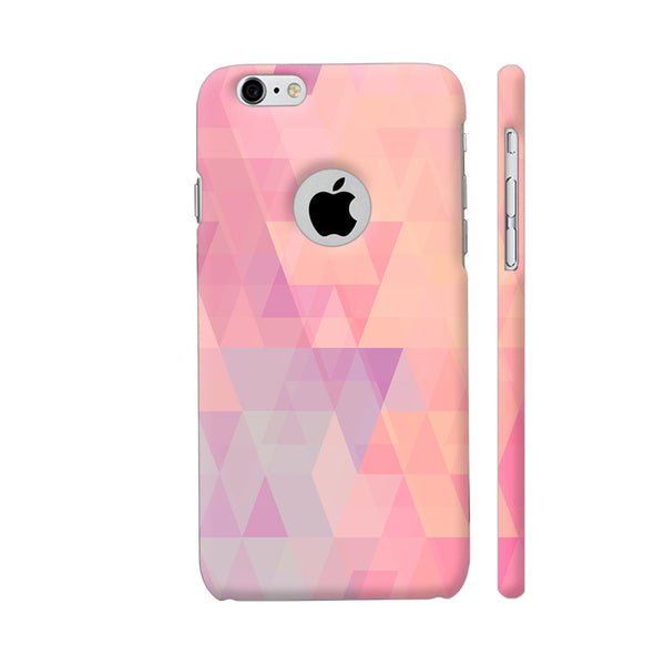 Abstract Pink Triangles iPhone 6 / 6s Logo Cut Cover | Artist: Neeja Shah