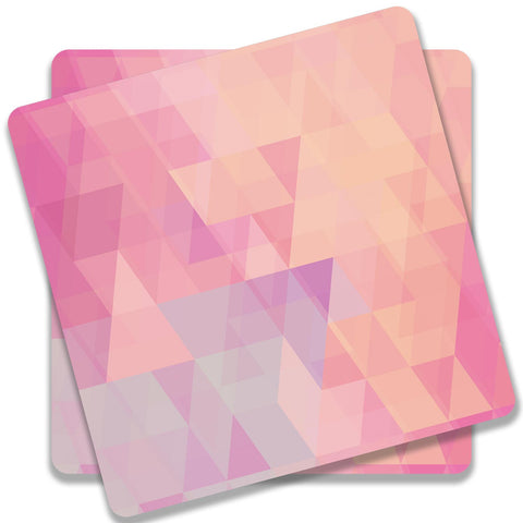Abstract Pink Triangles Coaster (Set of 2)