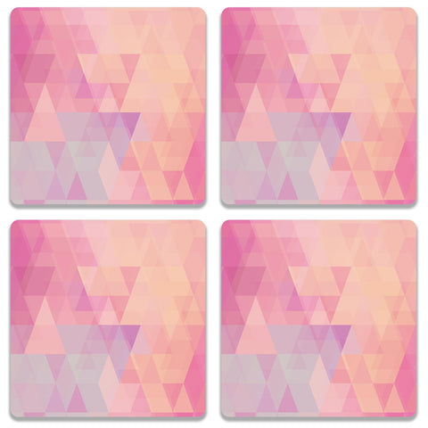 Abstract Pink Triangles Coaster (Set of 4)