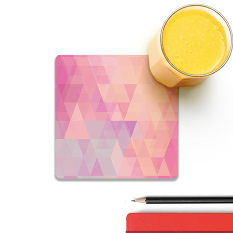 Abstract Pink Triangles Coaster