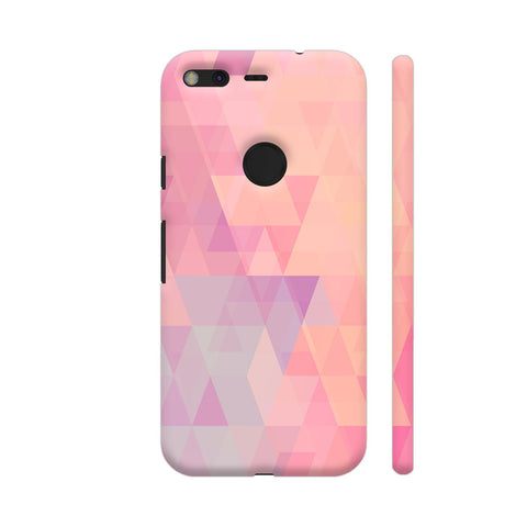 Abstract Pink Triangles Google Pixel Cover | Artist: Neeja Shah