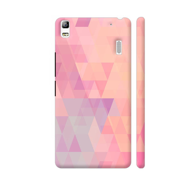 Abstract Pink Triangles Lenovo A7000 Cover | Artist: Neeja Shah