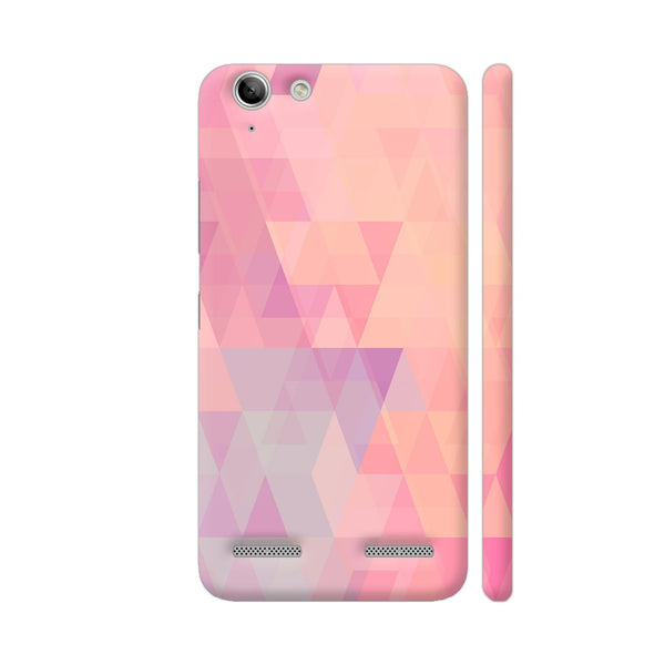 Abstract Pink Triangles Lenovo Vibe K5 / K5 Plus Cover | Artist: Neeja Shah