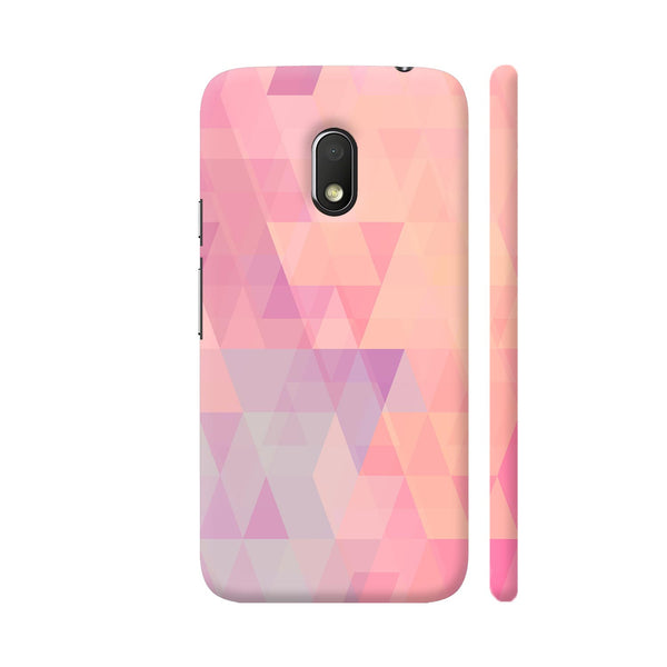 Abstract Pink Triangles Moto G4 Play Cover | Artist: Neeja Shah