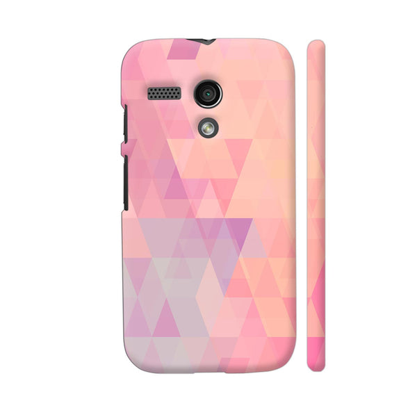 Abstract Pink Triangles Motorola Moto G1 Case