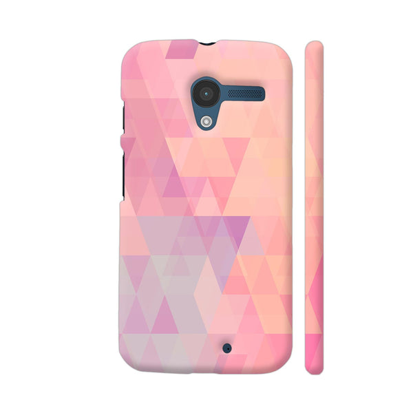 Abstract Pink Triangles Moto X1 Cover | Artist: Neeja Shah