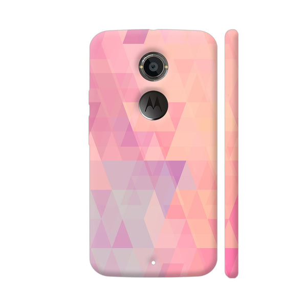 Abstract Pink Triangles Moto X2 Cover | Artist: Neeja Shah
