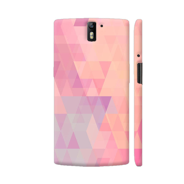 Abstract Pink Triangles OnePlus One Cover | Artist: Neeja Shah