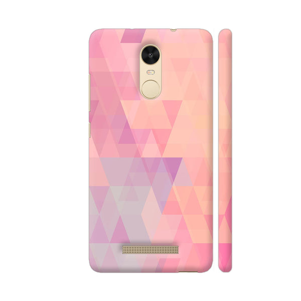 Abstract Pink Triangles Redmi Note 3 Cover | Artist: Neeja Shah