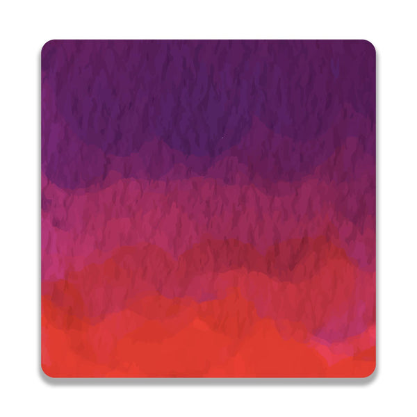 Abstract Shades Of Red Wooden Square Coaster | Artist: Abhinav