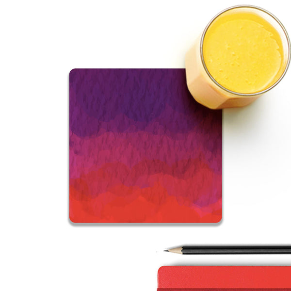 Abstract Shades Of Red Wooden Square Coaster (Set of 4) | Artist: Abhinav