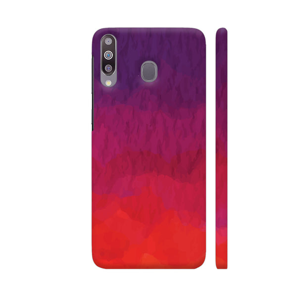Abstract Shades Of Red Samsung M30 Cover | Artist: Abhinav