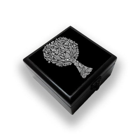 Abstract Tree In Black Jewellery Box