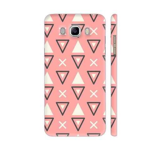 Abstract Triangles Pink Samsung Galaxy On8 Cover | Artist: Astha