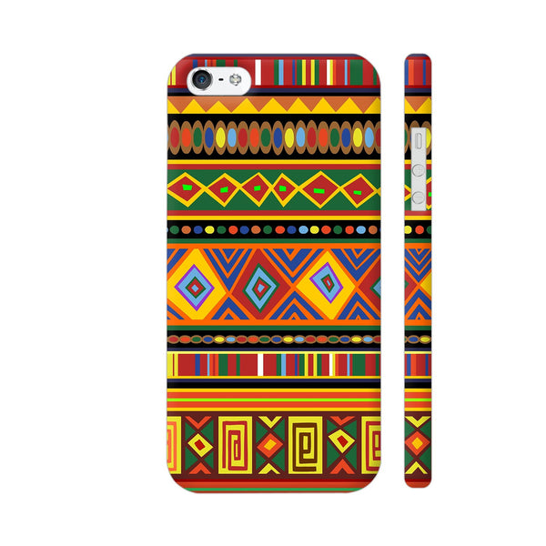 Africa Ethnic Art Pattern iPhone SE Cover | Artist: BluedarkArt