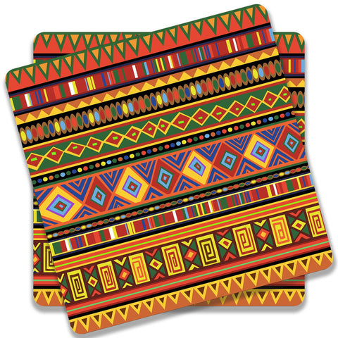 Africa Ethnic Art Pattern Coaster (Set of 2)