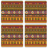 Africa Ethnic Art Pattern Coaster (Set of 2) | Artist: BluedarkArt