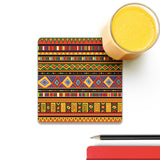 Africa Ethnic Art Pattern Coaster (Set of 4) | Artist: BluedarkArt