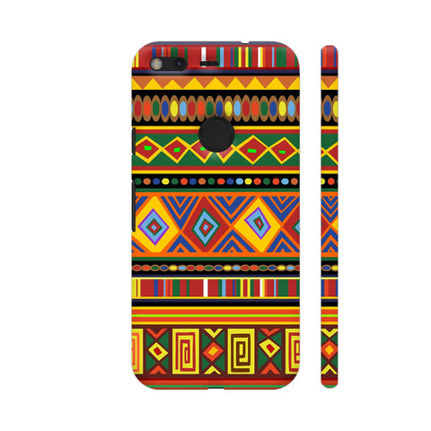 Africa Ethnic Art Pattern Google Pixel XL Cover | Artist: BluedarkArt