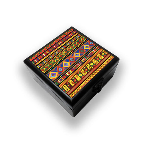Africa Ethnic Art Pattern Jewellery Box