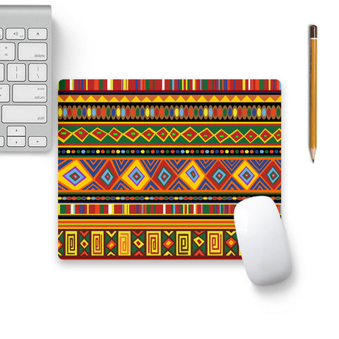 Africa Ethnic Art Pattern Mouse Pad Beige Base