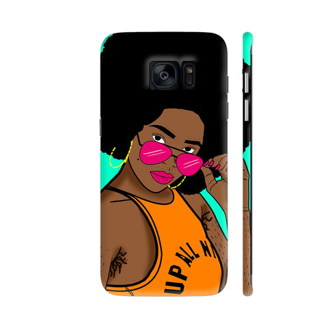 Afro Swag Samsung Galaxy S7 Edge Cover | Artist: Disha