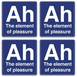 Ah The Element Of Pleasure Coaster (Set of 4)