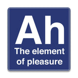 Ah The Element Of Pleasure Wooden Square Coaster | Artist: Abhinav