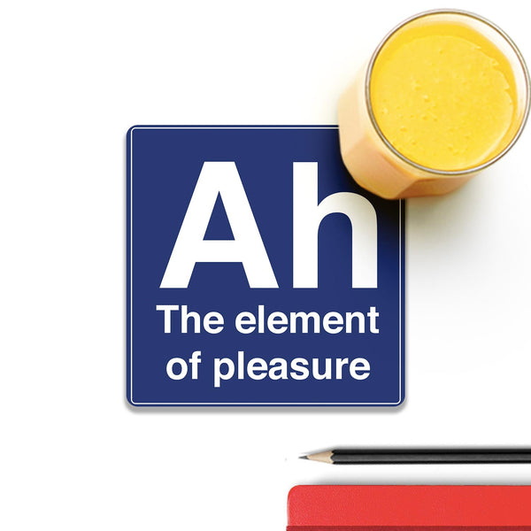 Ah The Element Of Pleasure Wooden Square Coaster (Set of 4) | Artist: Abhinav
