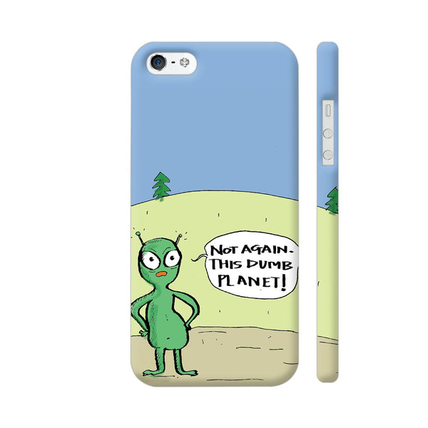 Aliens On Dumb Planet Earth iPhone SE Cover | Artist: Manasi Deshpande