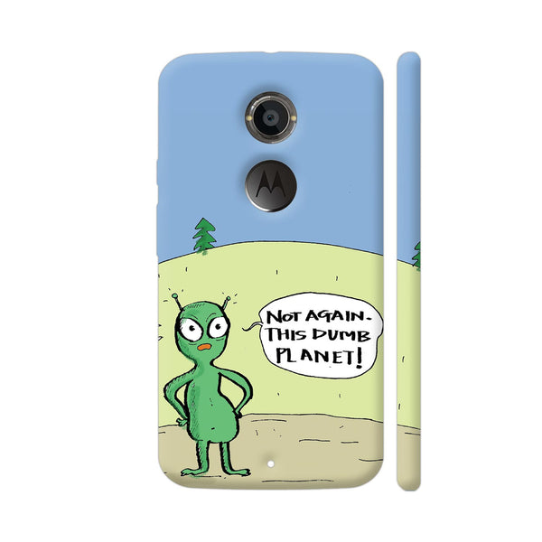 Aliens On Dumb Planet Earth Moto X2 Cover | Artist: Manasi Deshpande
