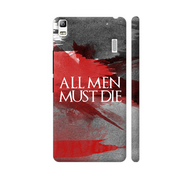 All Men Must Die Lenovo K3 Note Cover | Artist: Abhinav