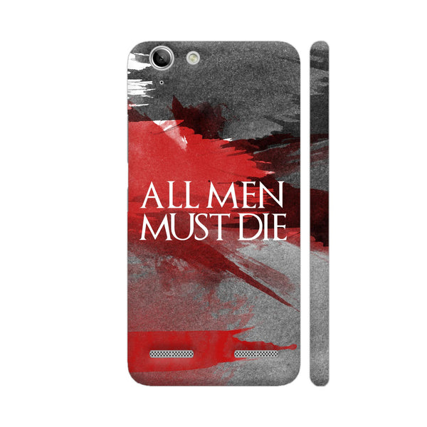 All Men Must Die Lenovo Vibe K5 / K5 Plus Cover | Artist: Abhinav